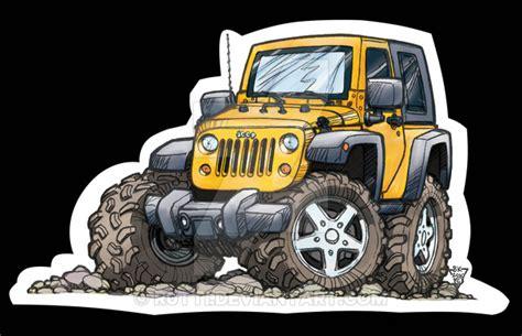 jeep cartoon offroad jeep jk toon 2dr by r0tti on deviantart