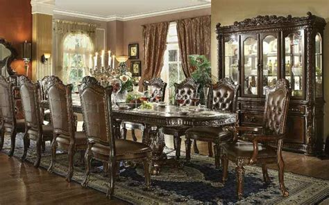 traditional dining room chairs formal traditional vendome cherry 11 pc dining room set ebay