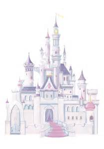 Minnie Mouse Wall Murals princess castle wall decals with glitter
