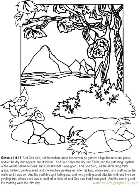Genesis 3 Coloring Page by Free Coloring Pages Of 6th Day Creation