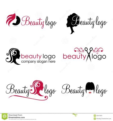 hair and beauty logos vector stock image image of