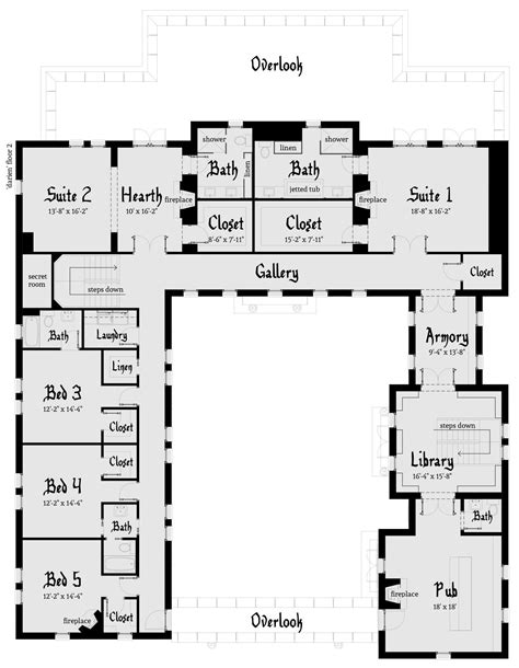 modern castle floor plans using stone darien castle plan tyree house plans