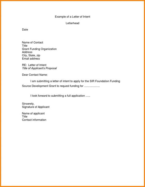 business letter of intent template real estate letter of intent template format exle sle