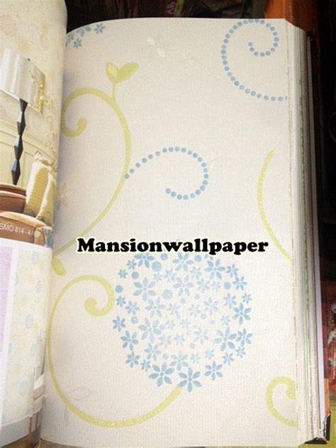 jual wallpaper dinding biru jual wallpaper dinding bunga chic dandelion biru mansion