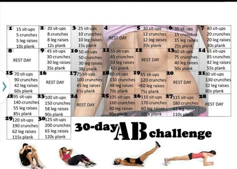 30 day ab challenge 30 day ab and squat challenge health guide 365