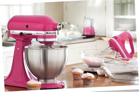 hot pink kitchen appliances hot pink kitchenaid mixer home decor pinterest