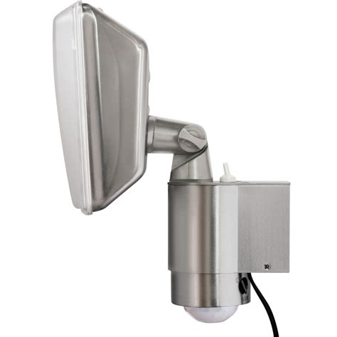 Hpm Solar Led Sensor Security Light Silver Bunnings Outdoor Solar Lights Nz