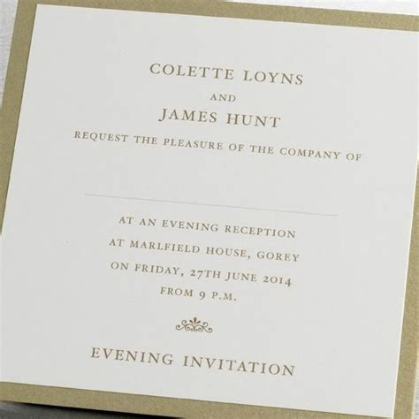 Templates For Wedding Evening Invites | evening wedding invitations templates wblqual com