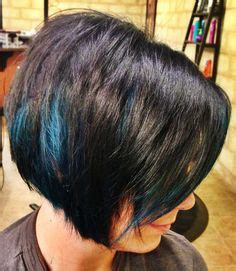 24 fun amp sexy short brown hairstyles page 5 of 24 blue hair peek a boos and blue