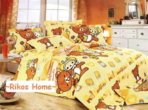 rilakkuma bed 2013 new rilakkuma korilakkuma queen king bedding set 4pc