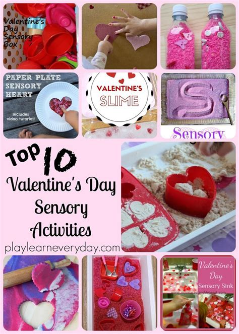 10 Valentines To About by Top Ten S Day Sensory Activities Sensory Play
