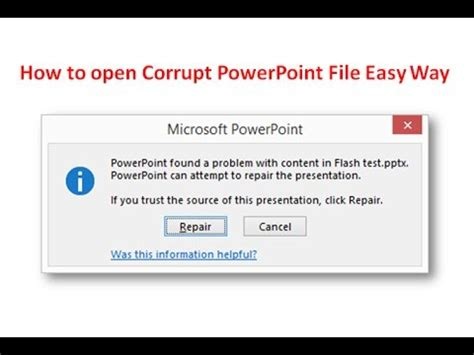 fix your corrupted powerpoint presentation file in few clicks how to repair corrupt powerpoint presentation youtube