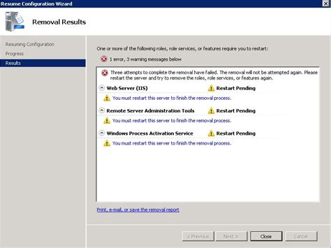 Dependency Manager Description For Resume by How To Uninstall Iis From Windows Server 2008 Server Fault