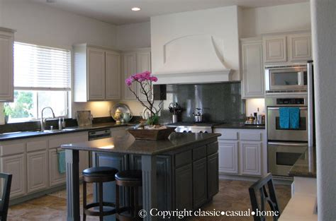 Paint Kitchen Cabinets Before And After Classic Casual Home Painted Kitchen Cabinets Before And After