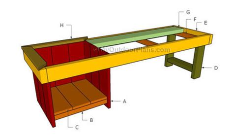 building a bbq bench backyard fort plans free outdoor plans diy