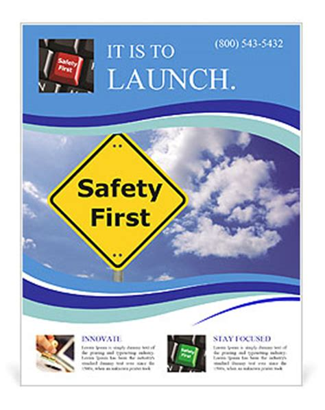 Safety Flyer Template Safety First Flyer Template Design Id 0000008416 Smiletemplates Com