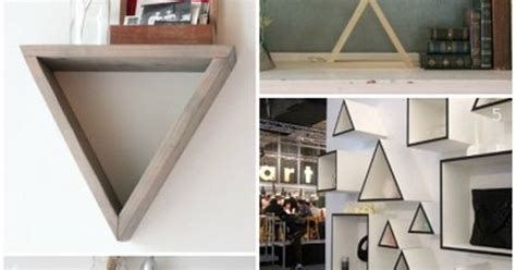 triangle wall shelving ideas plus a building plan for