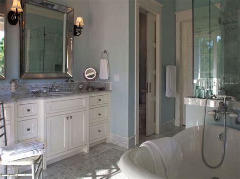 woodlawn blue bathroom venetian beaded mirror transitional bathroom geoff chick