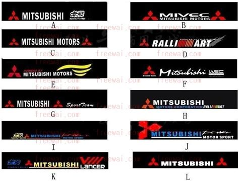 mitsubishi sticker front windshield reflective sticker for mitsubishi lancer