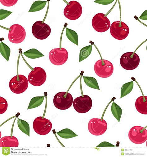 cherry pattern vector art vector seamless pattern with cherry royalty free stock