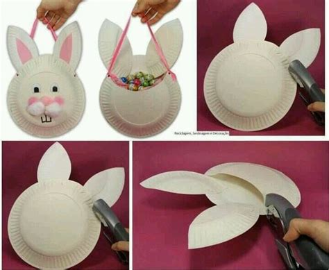 Paper Plate Bunny Craft - easter crafts for at home with