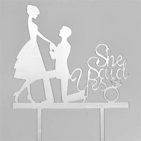 silver acrylic engagement couple wedding day