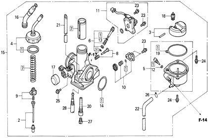 moto th honda wave 125s parts carburetor