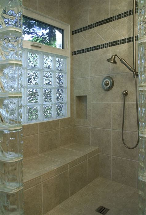 Image Result For Window In Way Of Shower Screen Bathroom Glass Block Showers Small Bathrooms