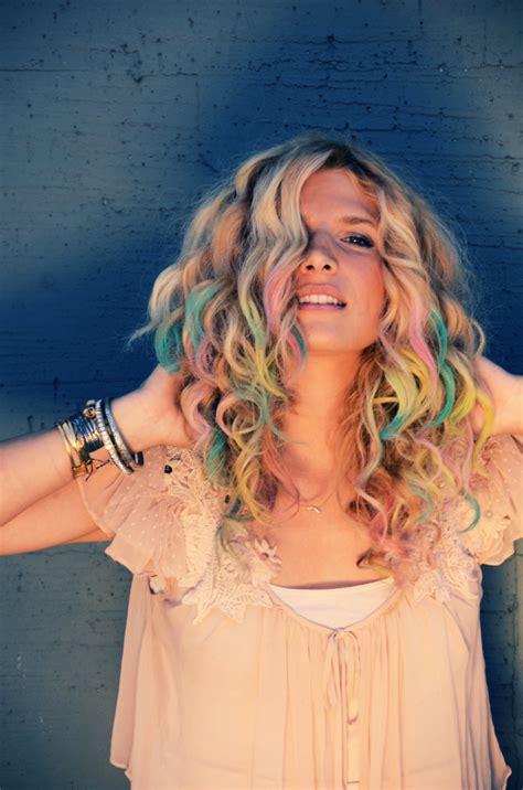 colorful hair ideas diy colorful chalk hair tips