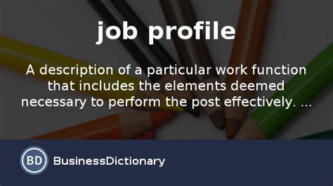 what is profile definition and meaning businessdictionary