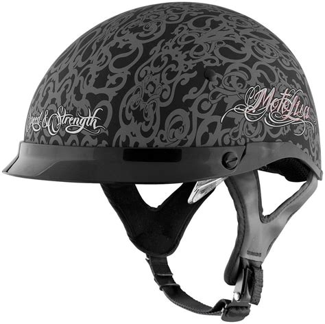 ladies motorcycle helmet 99 95 speed and strength womens ss400dvd moto lisa half