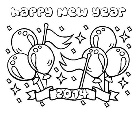 coloring pages for new years eve 2014 printable printable happy new year 2014 coloring page