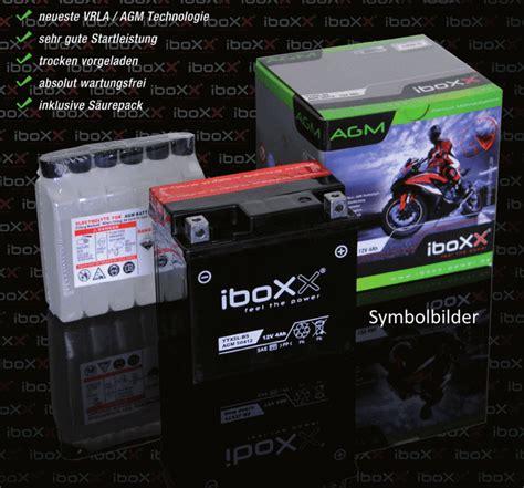 Motorradbatterie 12v 3ah by Agm 12v 3ah Motorradbatterie Iboxx Ytx4l Bs G 252 Nstig