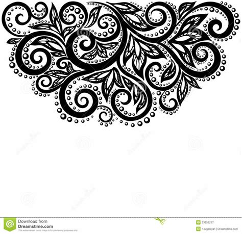 design black and white home design black and white lace flowers and leaves