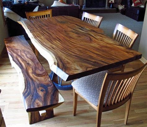 natural wood dining room table natural edge monkeypod wood slab dining table with custom