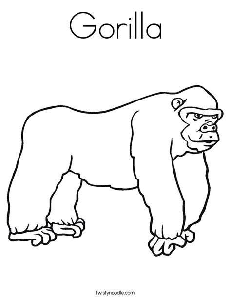 gorilla coloring page sketch coloring page