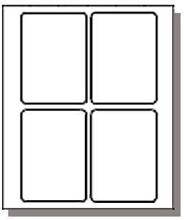 Label Template 4 Per Sheet Printable Label Templates 1 X 1 Label Template