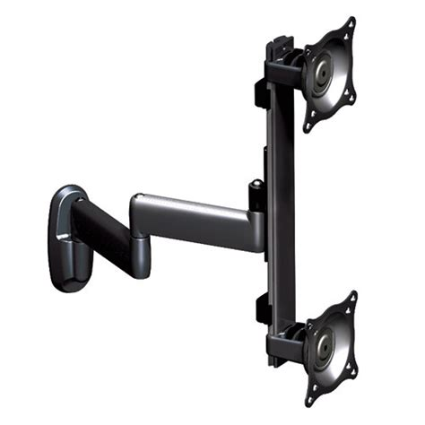 dual swing arm wall mount chief kwd 230b dual vertical monitor swing arm wall