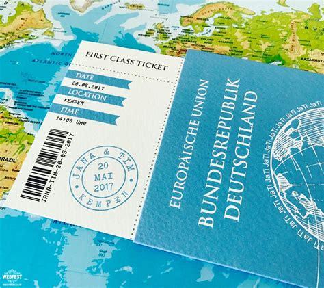 Passport Wedding Card