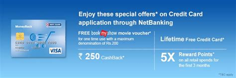 Credit Card Application Form Hdfc Hdfc Bank Netbanking Moneyback Card