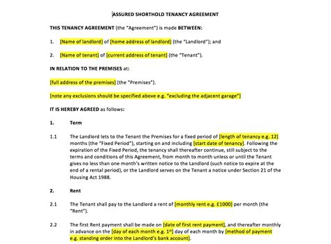 free shorthold tenancy agreement template tenancy agreement template uk template agreements and