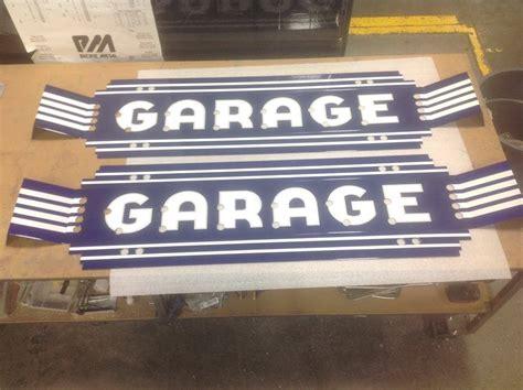 Neon Garage Signs by Custom Porcelain Neon Garage Sign Vault Custom Garages
