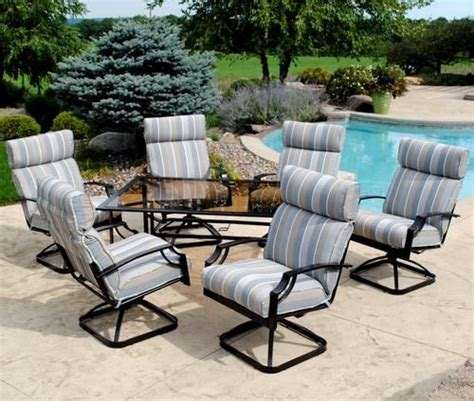 backyard creations patio furniture backyard creations 7 pacifica dinning collection at