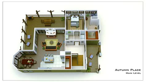 3bedroom Floor Plan by Small Cottage Plan With Walkout Basement Cottage Floor Plan