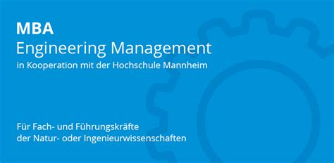 Mba Or Engineering Management by Info Webinar Zum Mba Studiengang Engineering Management
