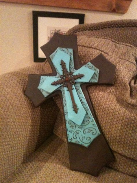 Handmade Crosses - decorative wooden crosses handmade layered wood cross by