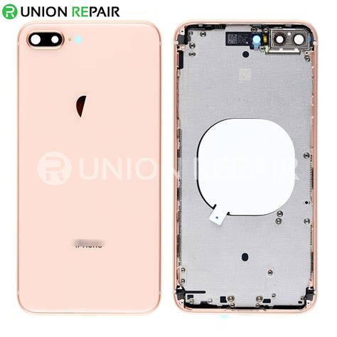 replacement for iphone 8 plus back cover with frame assembly gold
