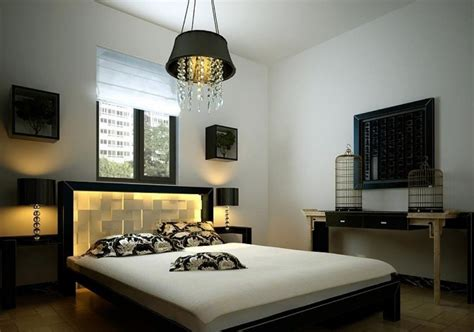 bedroom with white walls white walls and black furniture china bedroom interior
