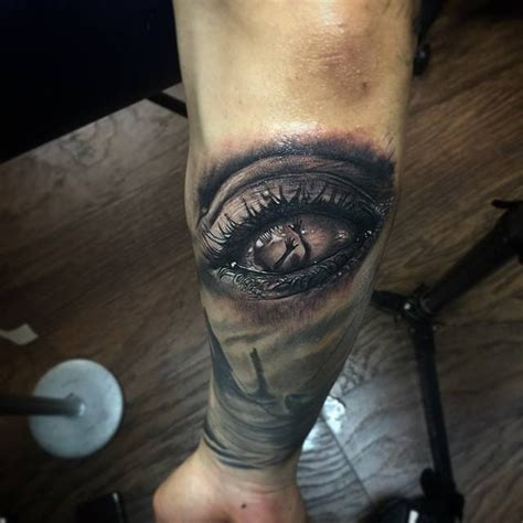 eyeball tattoo on elbow eye see you best tattoo design ideas