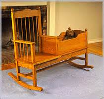 rocking chair cradle combo plans i would with wood